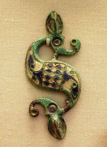 Anglo-Saxon Dragonesque Brooch, circa 1st - 2nd Centuries | British Museum