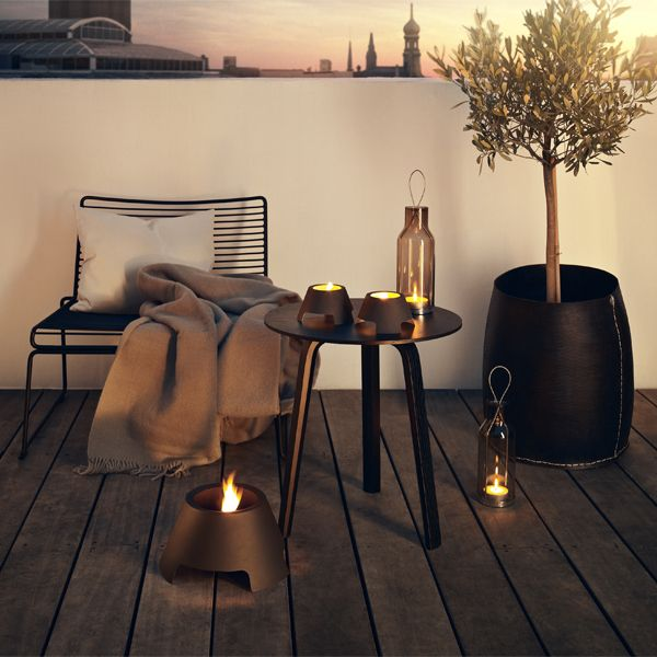 Eva Solo Glass lantern, 25 cm, frosted glass | Outdoor lighting | Outdoor | Finnish Design Shop