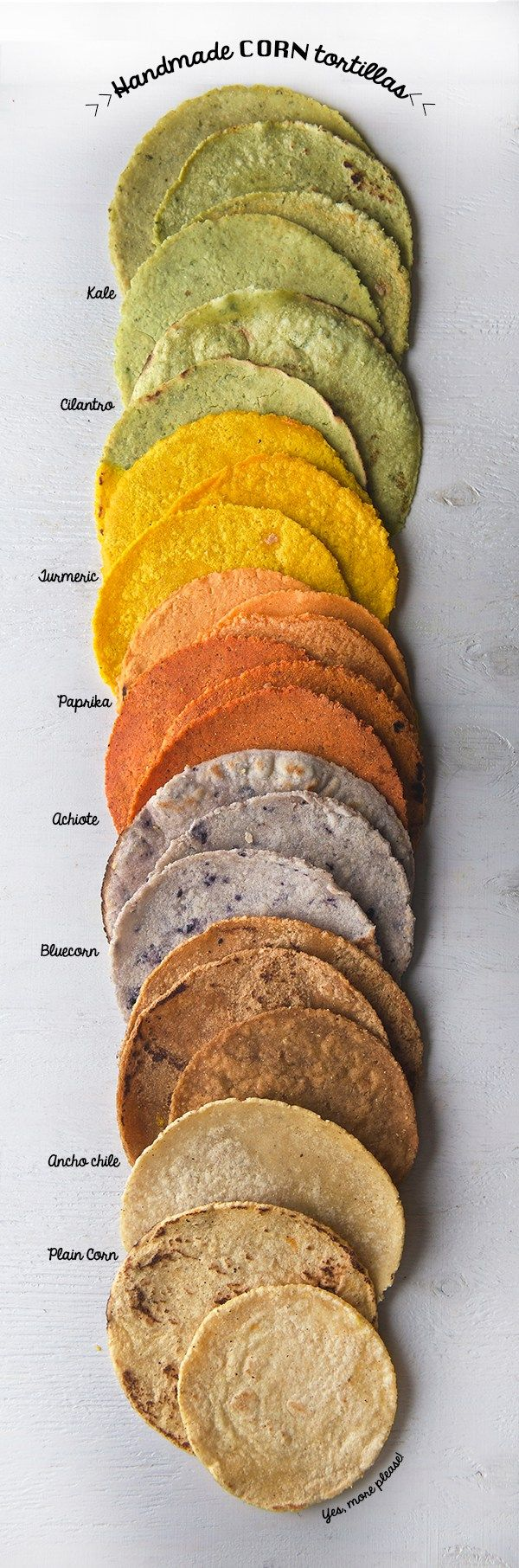 Handmade Corn Tortillas - Step-by-step instructions for eight different flavors!