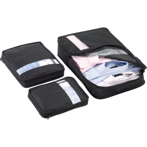 Go Travel Bag Packers: Black (Set of 3) | $24.95