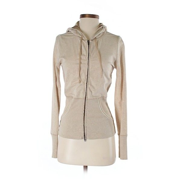Pre-owned White House Black Market Zip Up Hoodie Size 4: Beige Women's... (€19) ❤ liked on Polyvore featuring tops, hoodies, beige, zip up hoodies, zip up top, pink hoodies, pink zip up hoodies and pink hooded sweatshirt