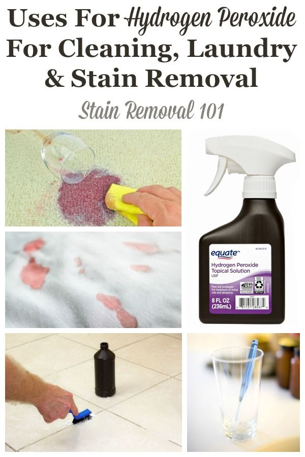 Uses For Hydrogen Peroxide For Cleaning Laundry Stain Removal