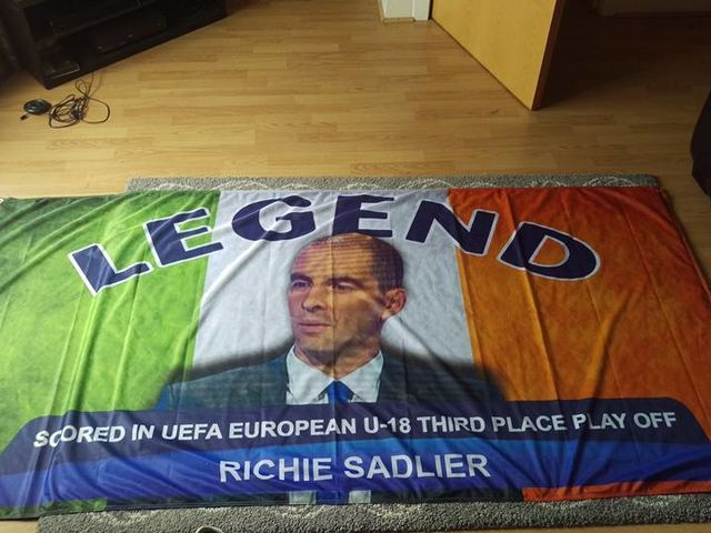 Republic of Ireland fans are taking a flag dedicated to Richie Sadlier to EURO 2016