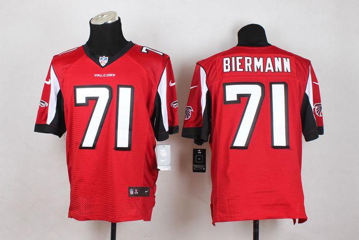 Atlanta Falcons Elite #71 Kroy Biermann Elite Red Men Jersey