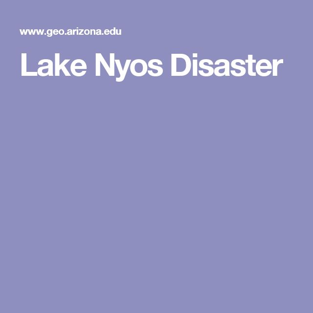 Lake Nyos Disaster