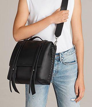 Womens Fin Shoulder Backpack (Black) - product_image_alt_text_4