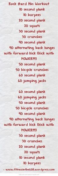Day 3 of this abs workout!! Lets hope I can keep it up!! Looks easy but it really got me sweating!! Lol