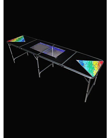 LED Dry Erase Board Beer Pong Table - 8 ft - Spencer's