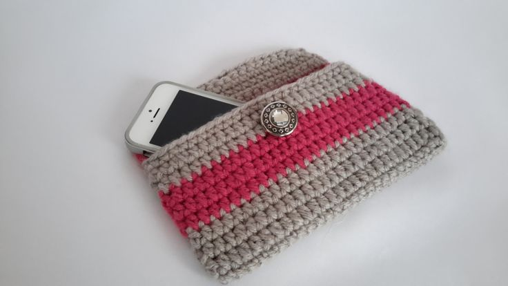 Crochet Wallet - Crochet Purse -Handmade crocheted wallet and phone case - Shopping wallet by Handmadebyadina on Etsy