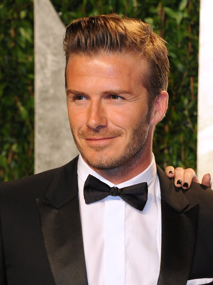 David beckham in a slick black bow tie my affinity for - David beckham ...