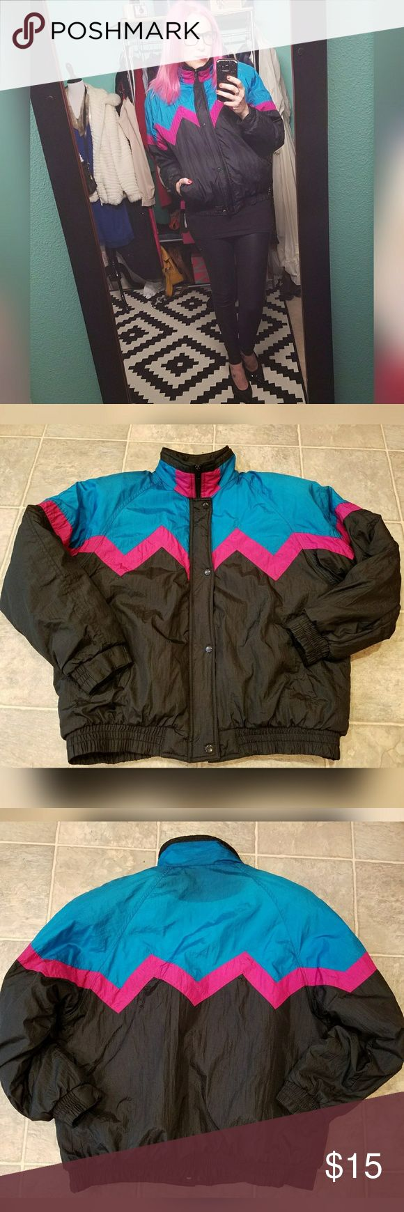 Rad, VINTAGE, winter coat!! Brand is Westside Connection. Size is M. See 6th pic for materials. Zipper and snap closure. Shoulder pads. Discoloraton on back of collar. (See 8th pic). Vintage Jackets & Coats