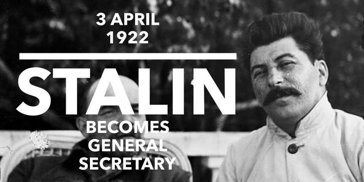3 April 1922. Joseph Stalin becomes the General Secretary