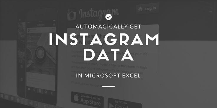 Automagically Get #Instagram Data in Excel http://chrismakara.com/social-media/instagram-data-microsoft-excel/