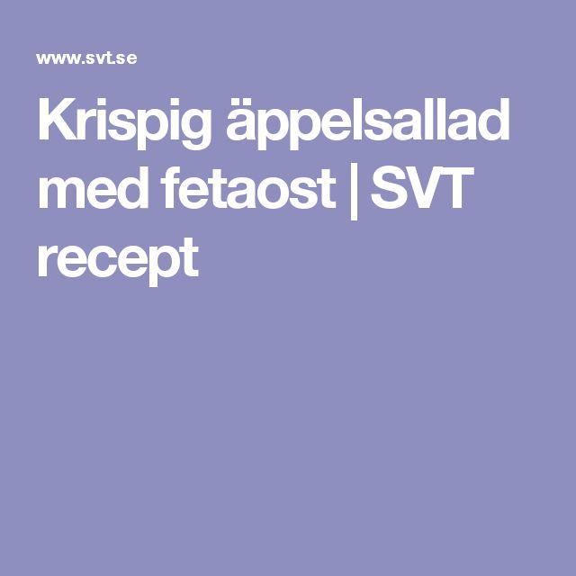 Krispig äppelsallad med fetaost | SVT recept