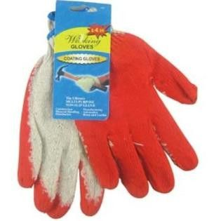 *WORK GLOVES- RED PALM COATED- SET OF 2