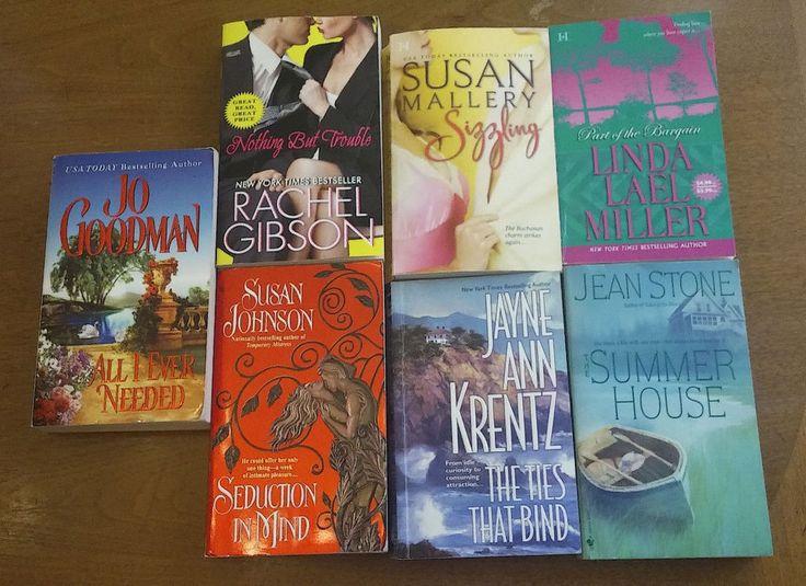 7 Lot Paperback Books Contemporary Romance Novels Rachel Gibson Jean Stone + mor
