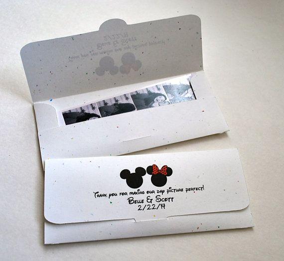 Photobooth Photo Strip Picture Holder Envelopes Wedding Party Favor Disney  Themed Wedding