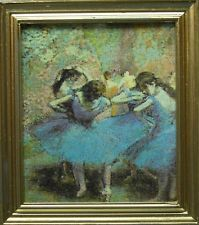 "Dollhouse Miniature ""Ballerinas in Blue"" Painting/Picture"