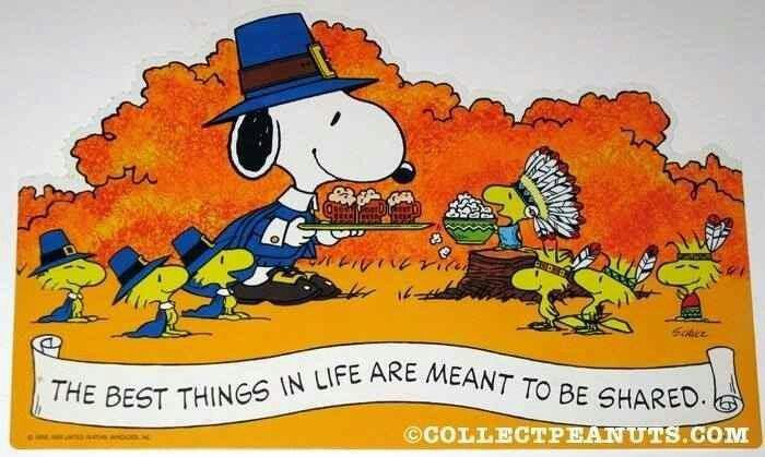 1000+ Images About Snoopy/Peanuts Thanksgiving On Pinterest