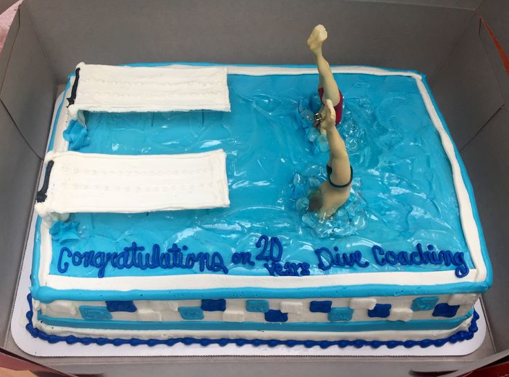 Capital Divers Cake - synchro springboard diving
