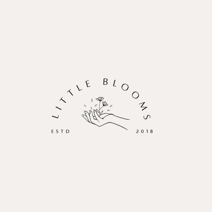 Premade logo, stamp logo, logo design, pre-made logo template, photo logo, branding, flower logo, hand logo, brand design
