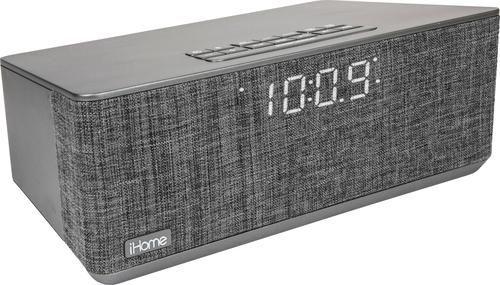 $37.99, Was $99.99, 62% Off! iHome - FM Dual-Alarm Clock Radio - Gray dealfomo