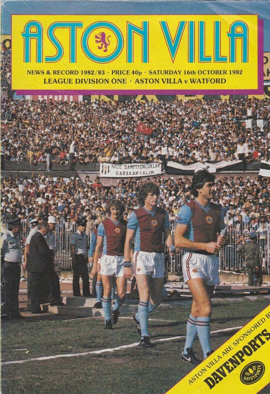 Aston Villa 3 Watford 0 in Oct 1982 at Villa Park. The programme cover #Div1