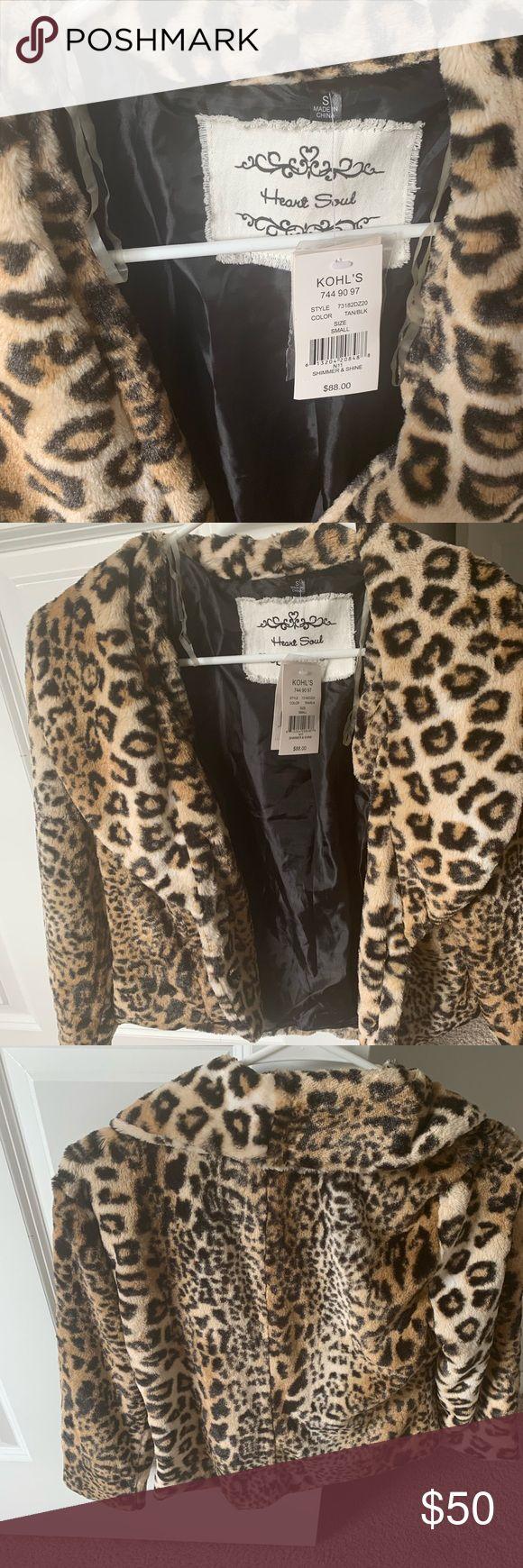 Heart Soul ladies faux fur leopard jacke…