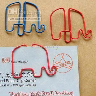 Elephant Animal Shaped Paper Clip/bookmark 38 X 32mm/Stationary from V-victory,$0.11 | DHgate.com