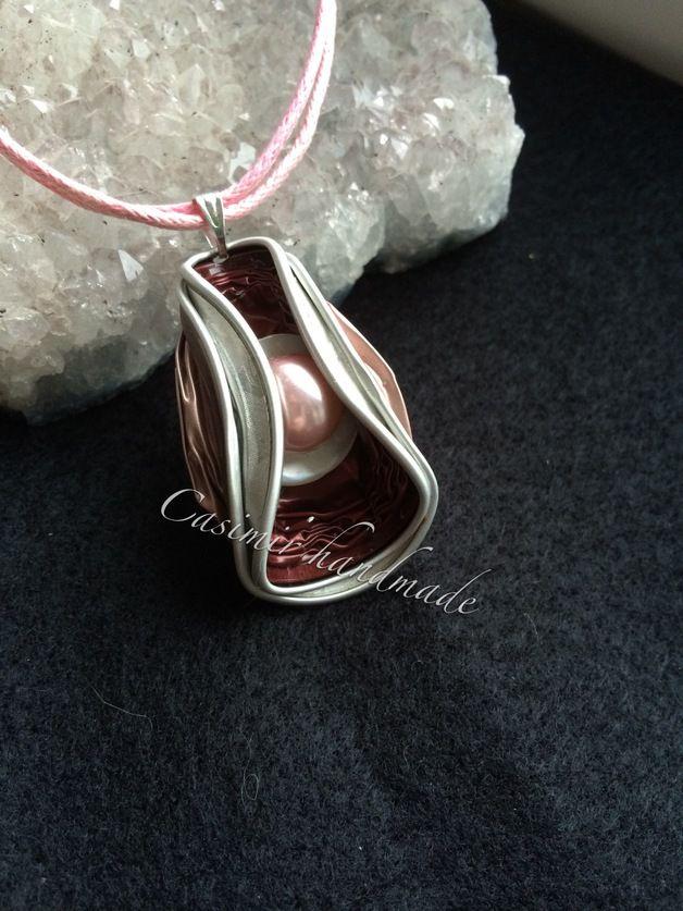 Weiteres - Kette mit Baumwollband aus Kaffee Kapsel rot/rosa - ein Designerstück von casimir-handmade bei DaWanda