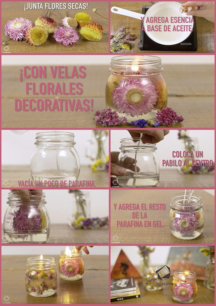 Cómo hacer velas con flores | CC DIY