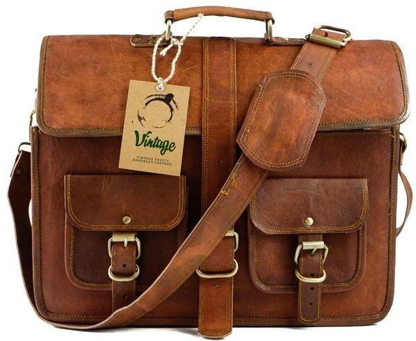 Vintage Perth Military Style Satchel Bag - Vintage Leather