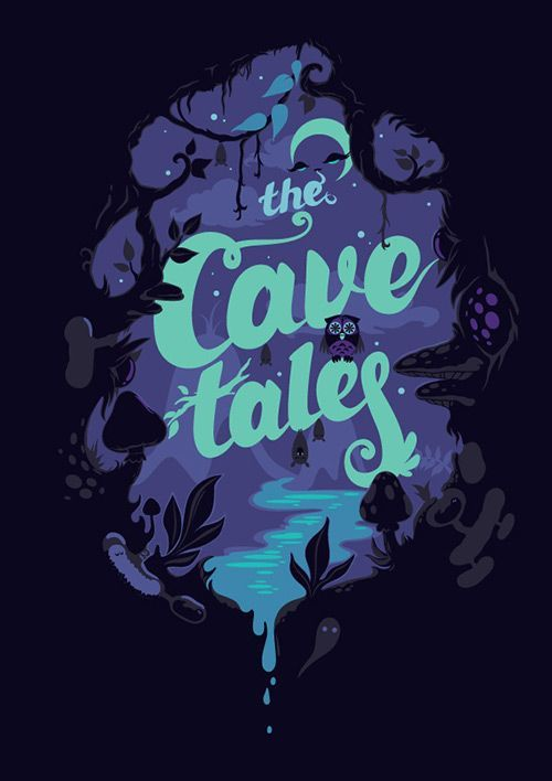 This is a really neat vector illustration which is probably for a book or something else. Or maybe a cover for some indie game. What ever it's for, the colors are really nice and so is the typography. The whole piece has a really great motion and feel to it.: