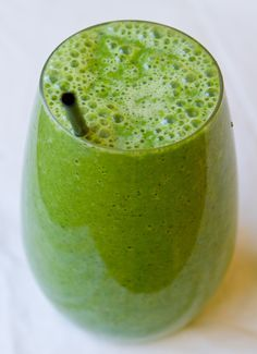 Granny Smith Smoothie - tastes just like the apples but only pineapple, green grapes, and spinach! (don't worry can't taste the spinach!)