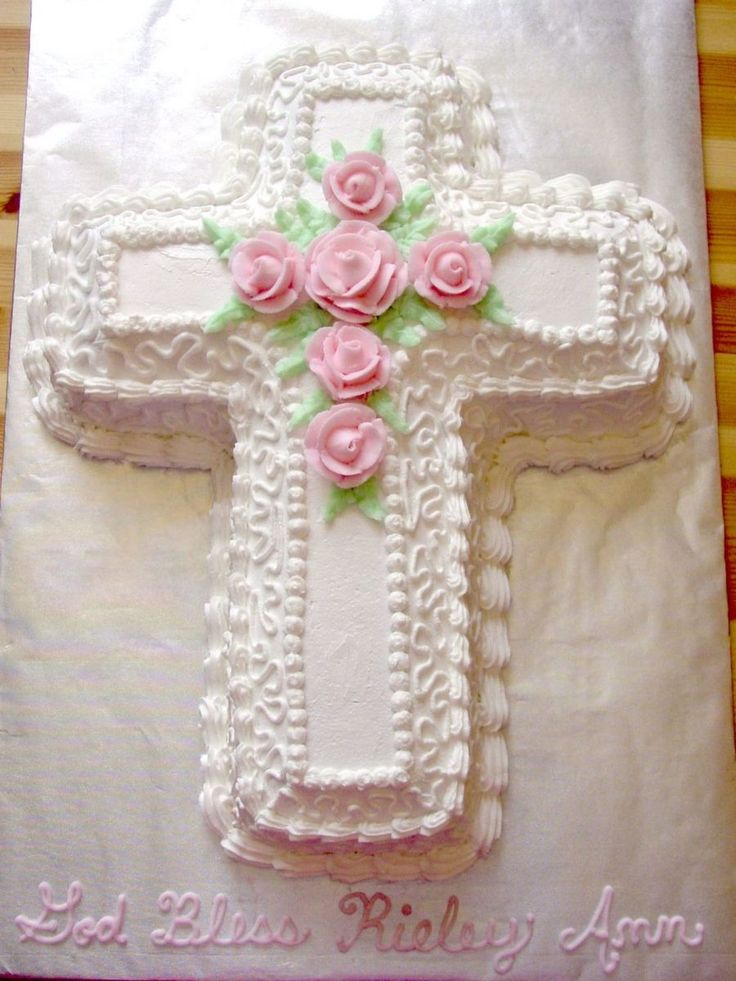 Baptism Cross Cake on Cake Central