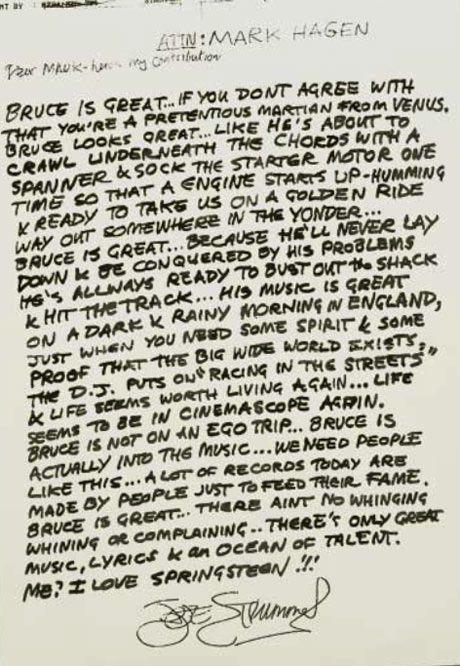 Revealed: how the late Joe Strummer got Bruce Springsteen his Glastonbury gig