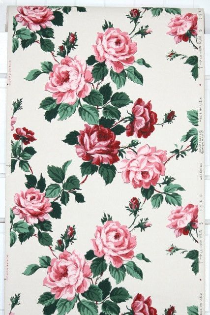 1940's Vintage Wallpaper from HannahsTreasures