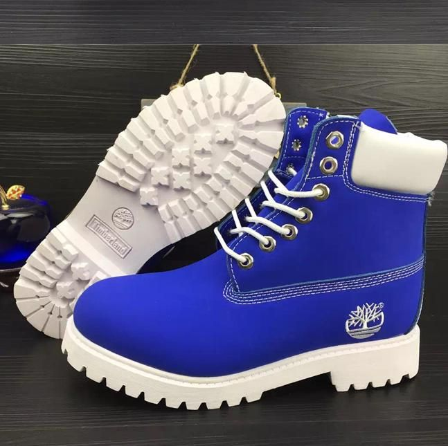 d686d6b100cd Timberland Rhubarb boots for men and women shoes waterproof Martin boots  lovers Sapphire blue-white
