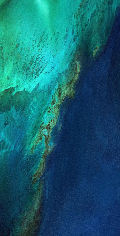 Dark, blue, ocean, wallpaper, galaxy, tranquil, beauty, water, sky, planets, space, earth, beach, s8, galaxy s8, Samsung