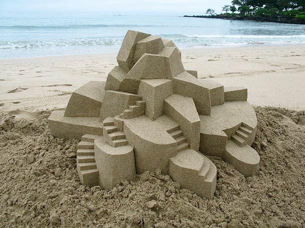Les Châteaux de sable géométriques de Calvin Seibert