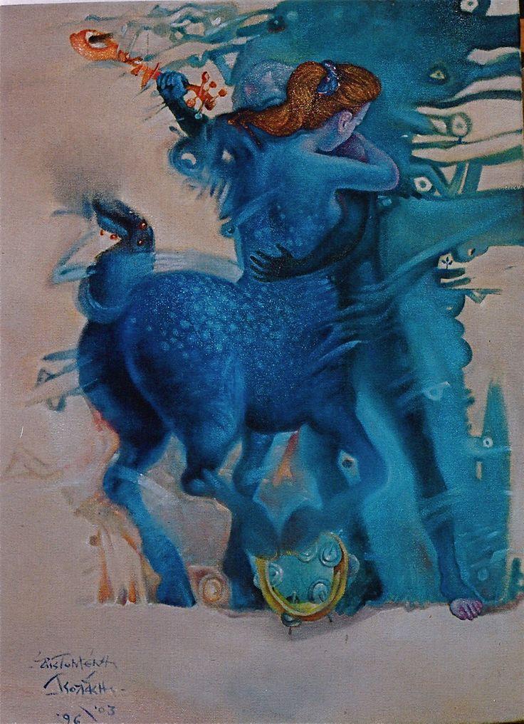 TEMPERATE SOUND – Oil on canvas, 30X40, 1996– 03.- ΕΥΚΡΑΤΟΣ ΗΧΟΣ - Ἐλαιογραφία σέ πανί,  30X40, 1996– 03. Paintings by Aristomenis Tsolakis, Athens.