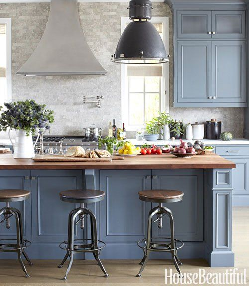 Blue Cabinets Prepossessing With Blue Gray Kitchen Cabinets Photo