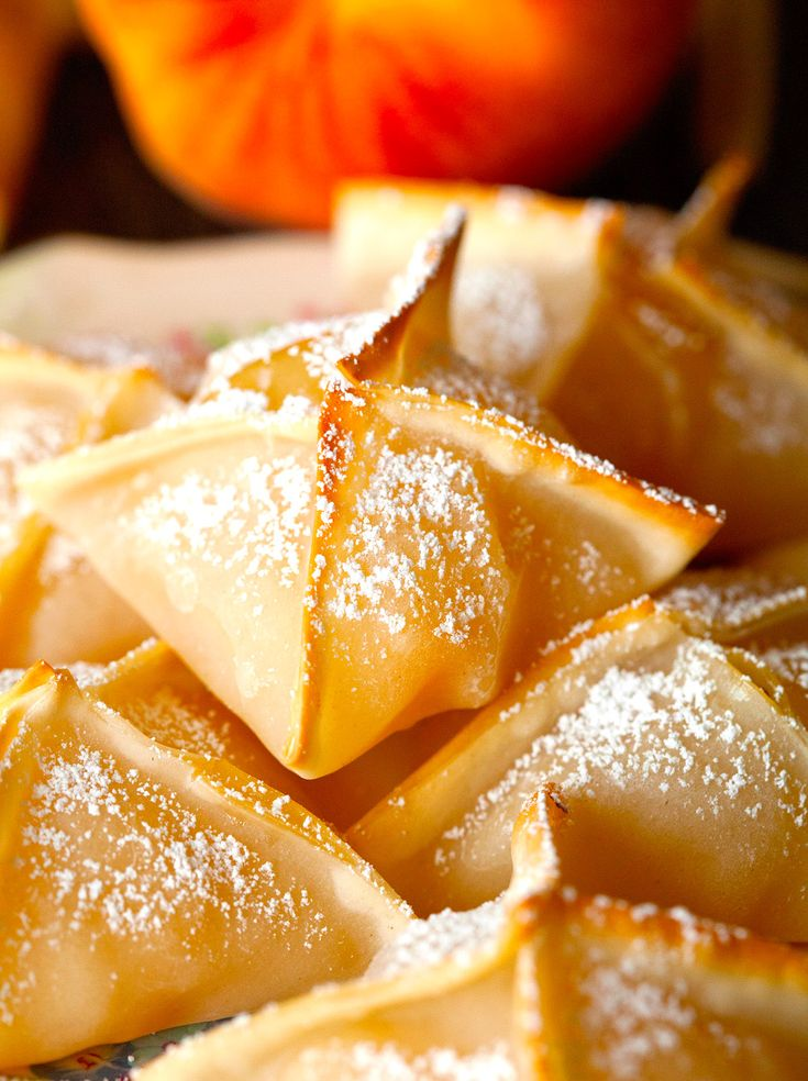 Baked Peach Wontons - for use with extra wontons from potstickers!