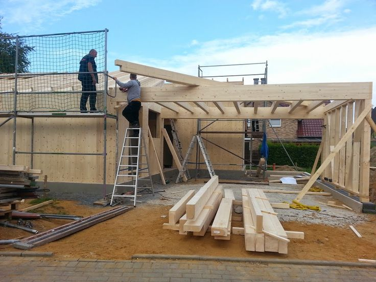 MCB Holzhausbau   Pause Beim Carport Bau ? NUR HOLZ Vollholzhaus Montage  Niederkrüchten   Bauplanung Gerne