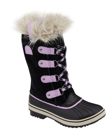 Take a look at this Black & Hydrangea Tofino Boot by SOREL