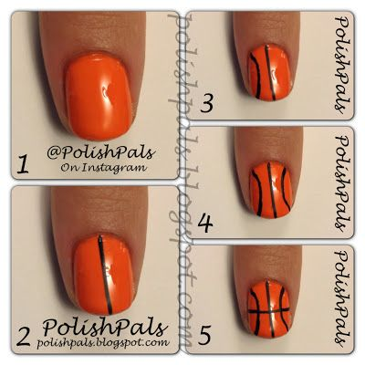 Basketball Nails Tutorial
