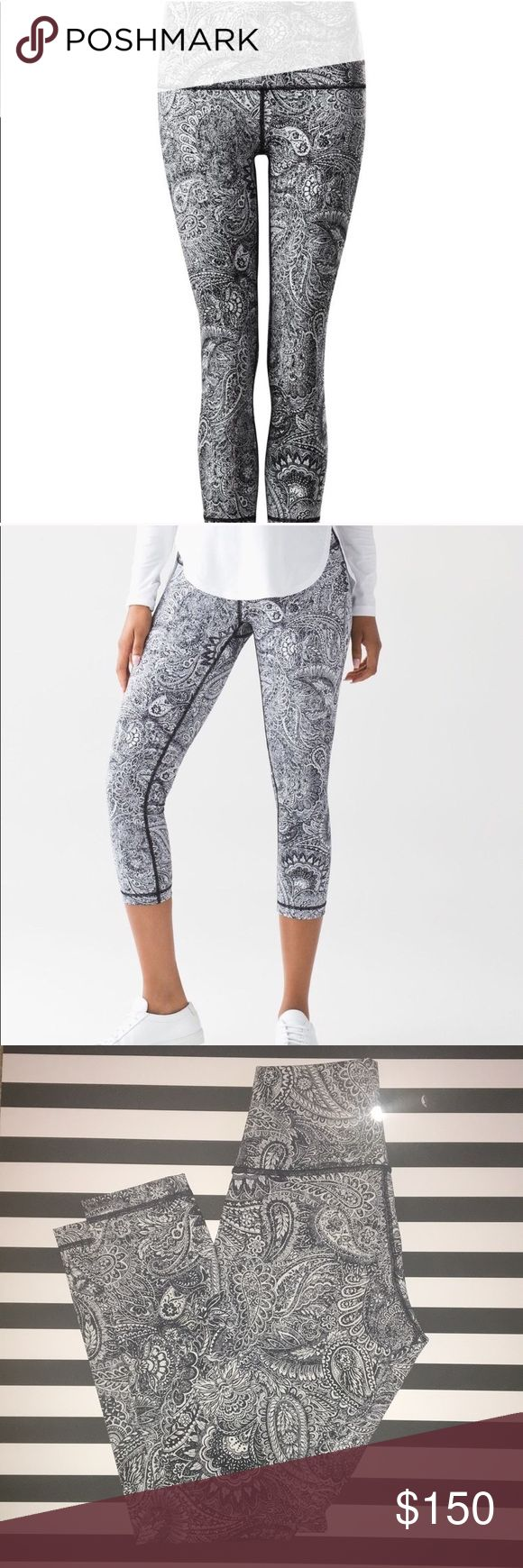 Lululemon wunder under antique paisley leggings 4 In perfect condition. Size 4. Inseam is 25. Very stretchy and comfy. I just don't need these that's all. Rare and hard to find lululemon athletica Pants Leggings