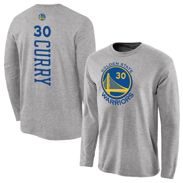Stephen Curry Golden State Warriors Fanatics Branded Backer Name & Number Long Sleeve T-Shirt - Gray - $31.99