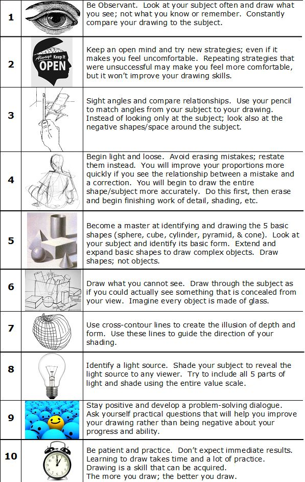 Drawing Exercises to Improve Your Drawing Skills to Warm - oukas info