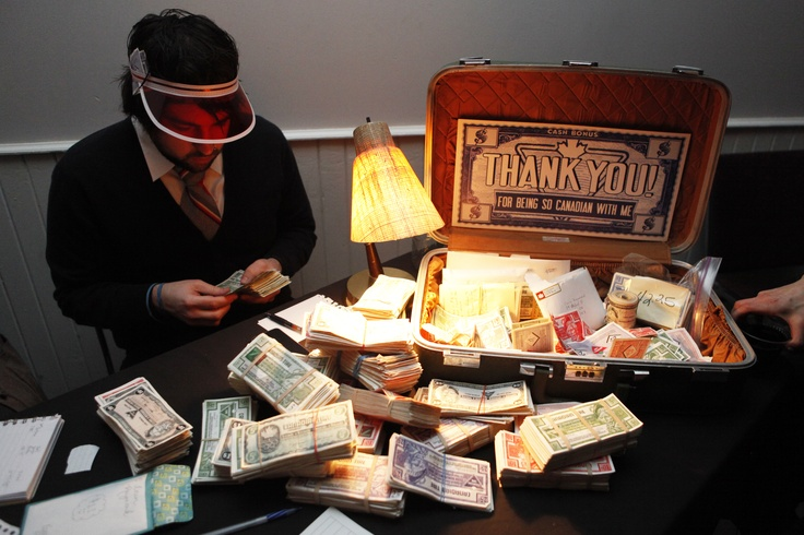 All that Canadian Tire money had to be counted, so Sandy McTyre brought with him an official Don't Spend It Honey accountant to do the job. The two nights combined brought in hundreds and hundreds of Canadian Tire money to go towards the Paper Nickels live double-album production costs. The event of the year- and it wasn't yet February!